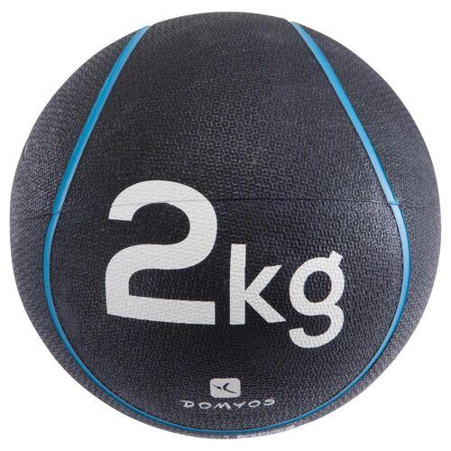 NYAMBA Medizinball 2kg Durchmesser 22cm blau