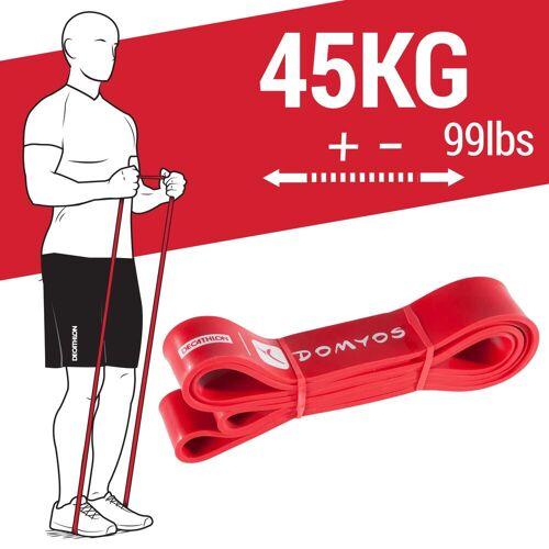 Domyos Fitness Band, Trainingsband Crosstraining 45kg ROT