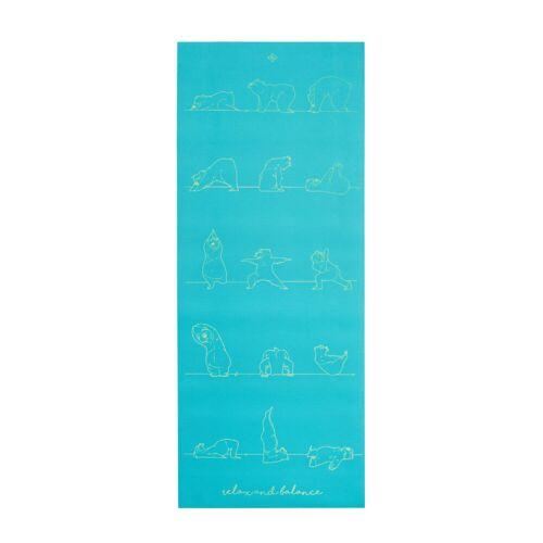 KIMJALY Yogamatte Kinder 5mm Bär blau