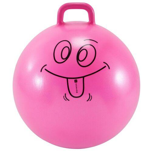 DOMYOS Hüpfball Resist 60 cm Kinder rosa