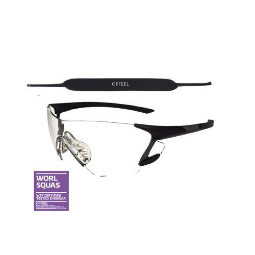 OPFEEL Squashbrille SPG 500 Größe L SCHWARZ