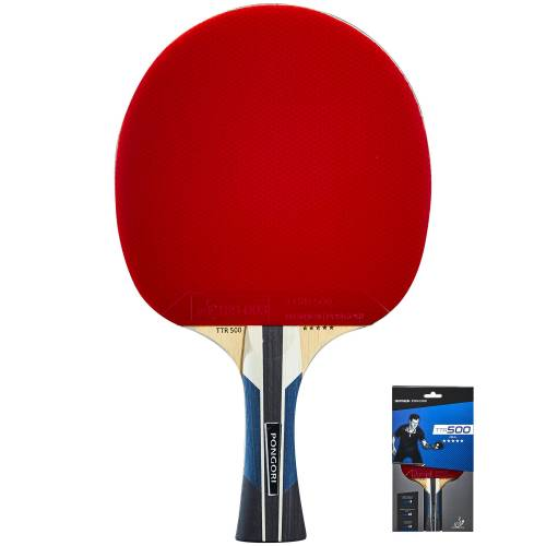 PONGORI Tischtennisschläger Club TTR 500 5* Allround ROT/SCHWARZ