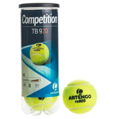 ARTENGO Tennisbälle TB920 3er-Dose gelb