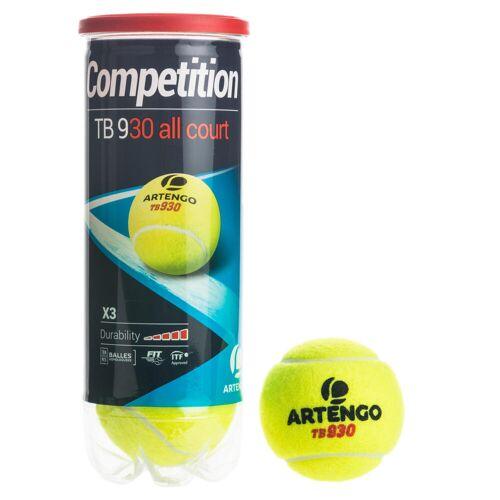 ARTENGO Tennisbälle TB930 3er-Dose gelb