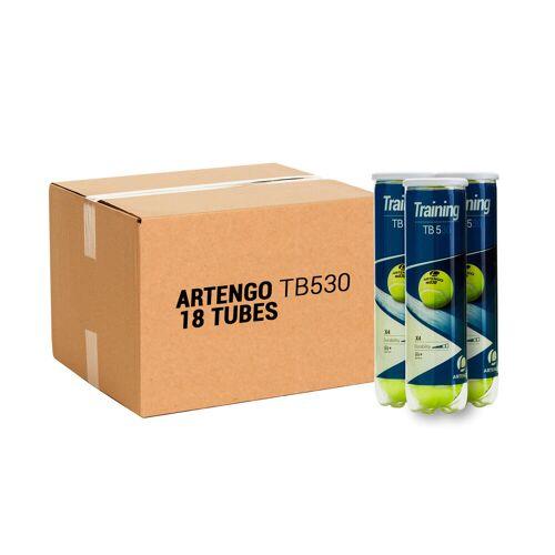 ARTENGO Tennisbälle TB530 4er-Dose im 18er-Pack gelb