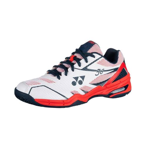 Yonex Badmintonschuhe Power Cushion 56 Herren weiß/rot