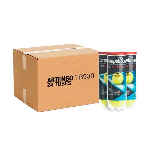 ARTENGO Tennisbälle TB930 3er-Dose im 24er-Pack gelb