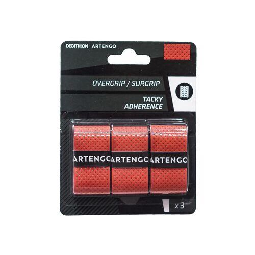 ARTENGO Griffband Overgrip Tacky für Tennisschläger 3er-Pack rot