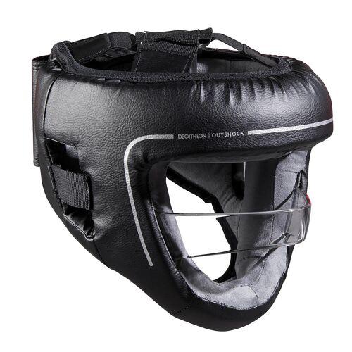 OUTSHOCK Kopfschutz Boxen Gesichtsschutz Kinder SCHWARZ