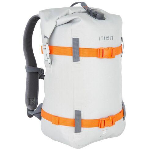 ITIWIT Wasserfester Rucksack 20L hellgrau GRAU