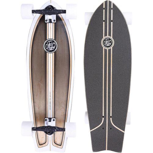 OXELO Longboard Fish Classic Surf BRAUN/WEIß