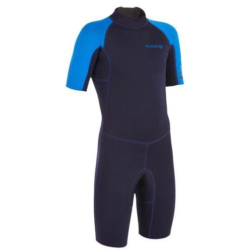 OLAIAN Neoprenanzug Shorty Surfen 100 Neopren 1,5mm Kinder blau BLAU