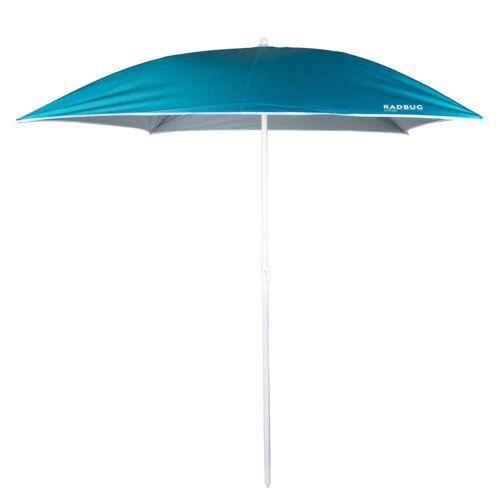 RADBUG Sonnenschirm Paruv 170 quadratisch UPF 50+ 1,5 Plätze blau BLAU TÜRKIS