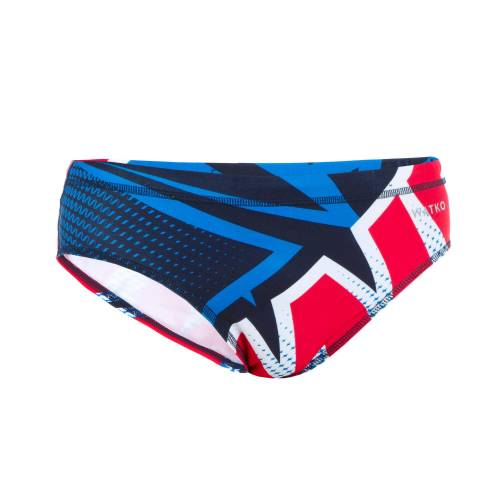 WATKO Badehose Slip Wasserball Motocross Herren blau BLAU/ROT