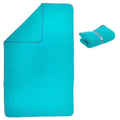 NABAIJI Mikrofaser-Badetuch gestreift Größe XL 110×175cm blau BLAU/TÜRKIS