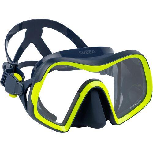SUBEA Tauchmaske SCD 500 Mono V2 Einglas blau/gelb BLAU/GELB