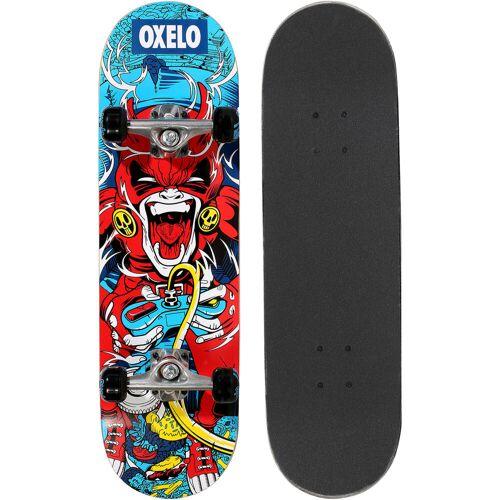 Oxelo Skateboard MID100 Skull Kinder 7 bis 10 Jahre