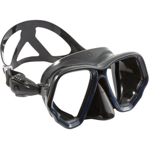 SUBEA Tauchmaske SCD 500 für Gerätetauchen schwarz/blau Zweiglas/Bi-Glas Tauchermaske