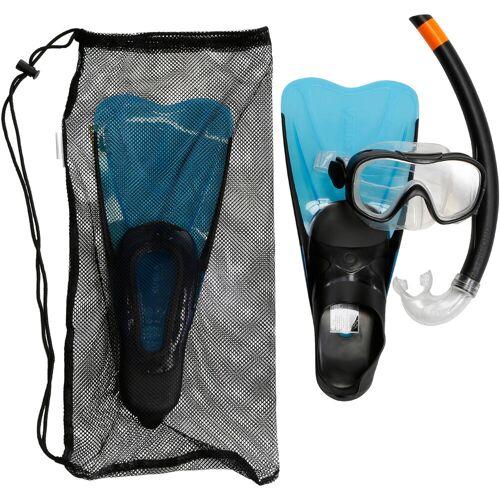 SUBEA Schnorchel-Set SNK 500 mit Flossen Maske Schnorchel für Kinder blau