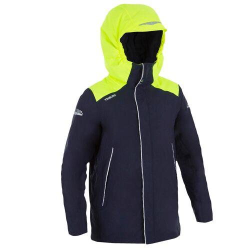 TRIBORD Segeljacke warm 100 Jungen blau/gelb