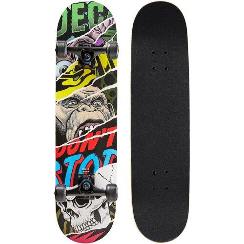 OXELO Skateboard Mid 500 Monkey für Kinder von 8–12 Jahren