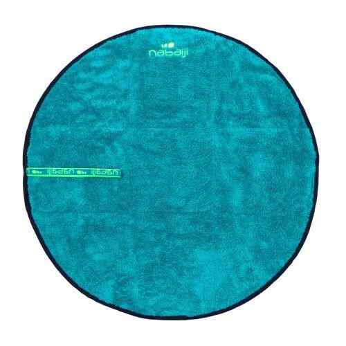 NABAIJI Fuß-Handtuch weich Mikrofaser zweiseitig 60cm Durchmesser blau