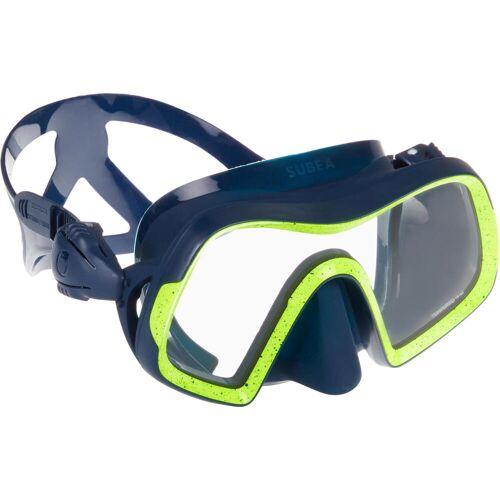 SUBEA Tauchmaske SCD 500 für Gerätetauchen blau/neongelb Mono-/Einglas Tauchermaske