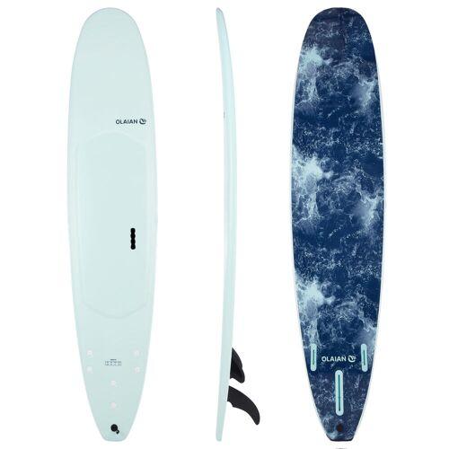 Olaian Surfboard 900 Schaumstoff Soft 9' Longboard 100L inkl. 2+1 Finnen