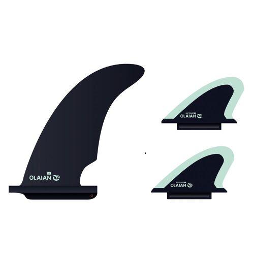OLAIAN Finnen-Set mit Zentralfinne + 2 Seitenfinnen für Schaumstoff-Longboard