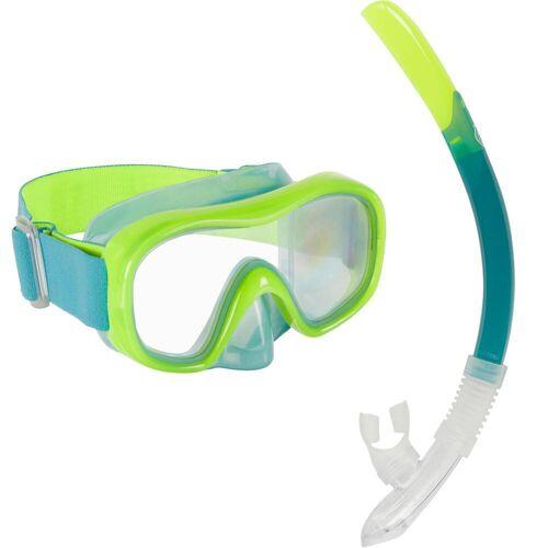 SUBEA Schnorchel-Set SNK 520 mit Maske/Schnorchel Kinder neongelb/grün