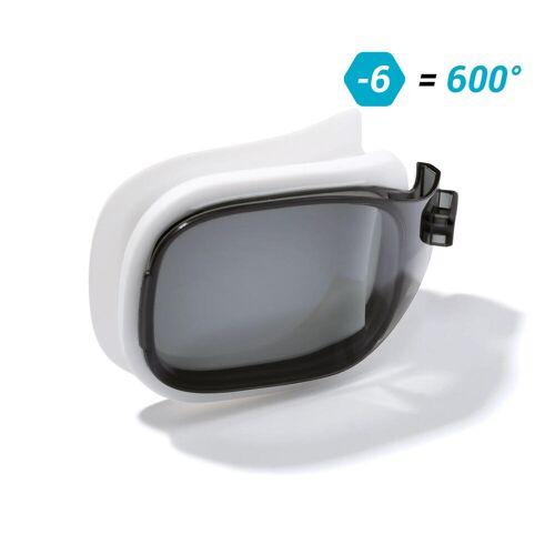 NABAIJI Schwimmbrillen-Glas Stärke -6.00 für Schwimmbrille Selfit Grösse S getönt