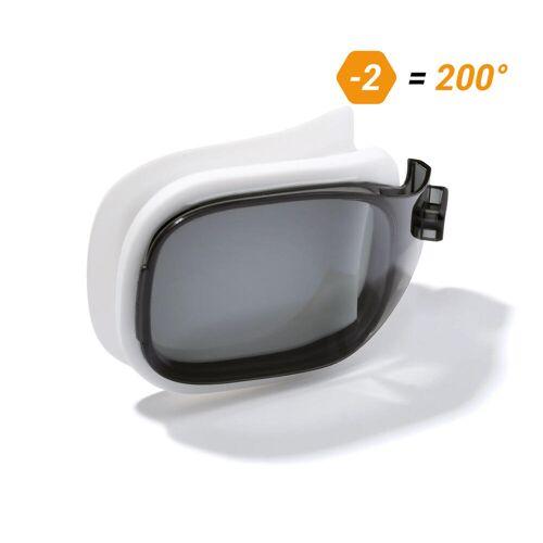 NABAIJI Schwimmbrillen-Glas Stärke -2.00 für Schwimmbrille Selfit Grösse S getönt