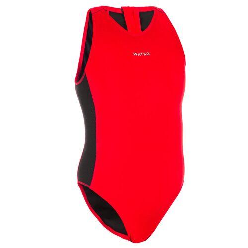 WATKO Badeanzug Wasserball 500 Damen rot