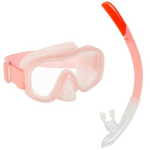 SUBEA Schnorchel-Set SNK 520 mit Maske/Schnorchel Kinder koralle hell
