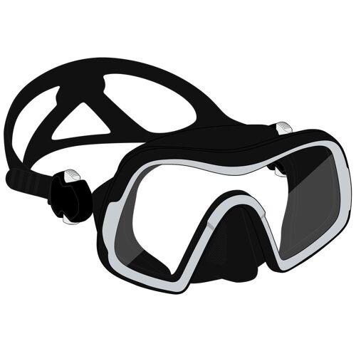 SUBEA Tauchmaske SCD 500 Mono V2 Einglas-Maske schwarz/grau