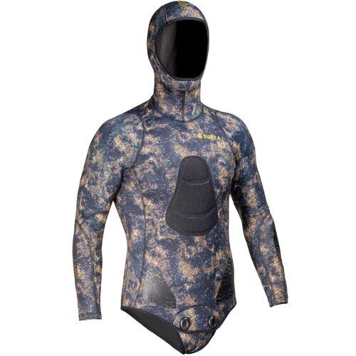 SUBEA Neoprenjacke Apnoetauchen SPF 500 Glattneopren 5mm camouflage khaki