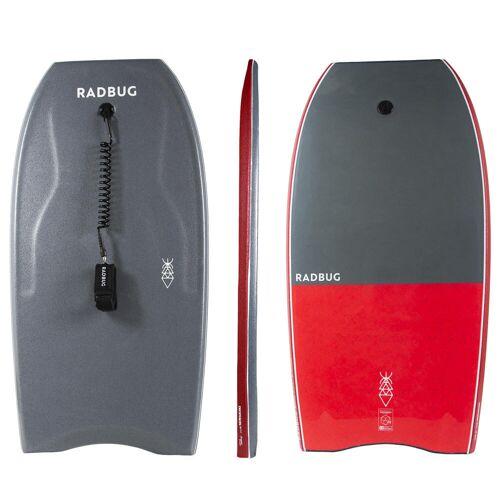 "RADBUG Bodyboard 500"" + Leash Bizeps grau/rot"