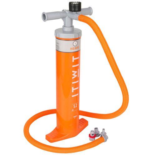 ITIWIT Pumpe Doppelhub Kajak 2×2,6Liter orange