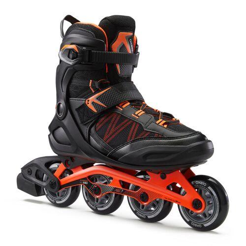 OXELO Inline Skates Inliner Fitness FIT 500 Herren acid orange ORANGE ROT