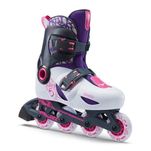 OXELO Inline Skates Inliner Play 5 Kinder hellgrau GRAU
