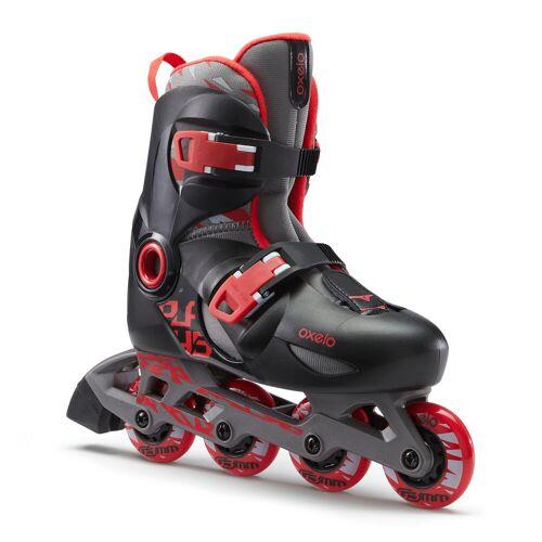 OXELO Inline Skates Inliner Play 5 Kinder schwarz/rot ROT