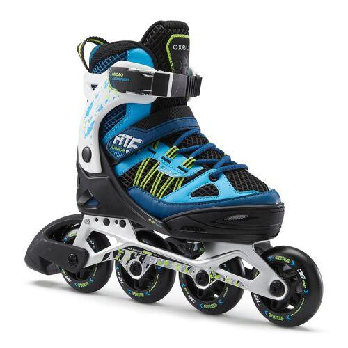 OXELO Inline Skates Inliner FIT 5 Kinder blau/weiß BLAU TÜRKIS