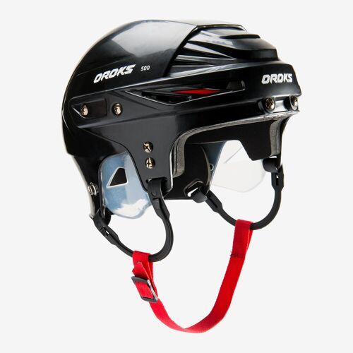 OROKS Eishockey-Helm IH 500 Erw. ROT/SCHWARZ/WEIß