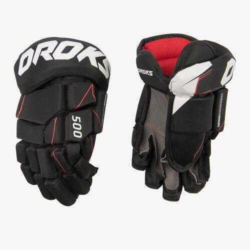 OROKS Eishockey-Handschuhe IH 500 JR ORANGE/ROT/SCHWARZ