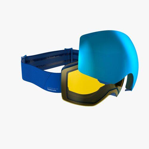 WEDZE Skibrille Snowboardbrille G 900 I Allwetter Erwachsene/Kinder blau BLAU