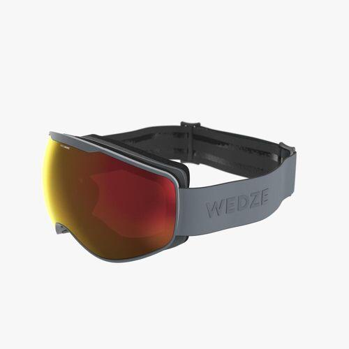 WEDZE Skibrille / Snowboardbrille G 900 PH Allwetter Kinder/Erwachsene grau GRAU/LILA
