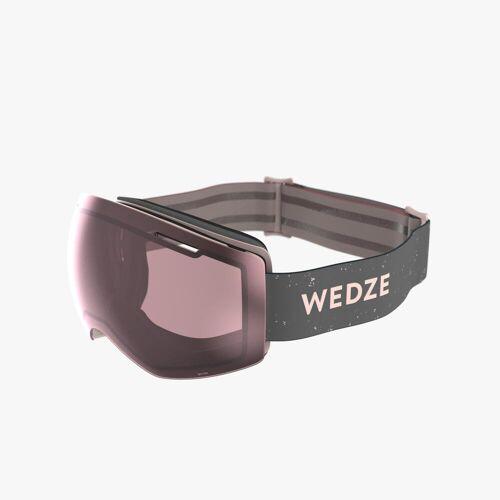 WEDZE Skibrille Snowboardbrille G 900 Erwachsene/Kinder Schlechtwetter rosa GRAU/ROSA