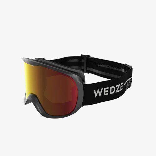 WEDZE Skibrille / Snowboardbrille G 500 PH Allwetter Kinder/Erwachsene schwarz SCHWARZ