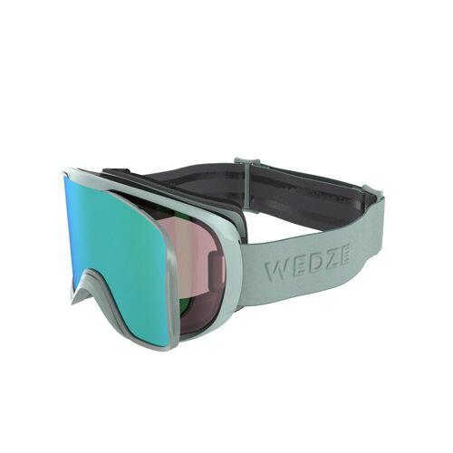 WEDZE Skibrille Snowboardbrille G 500 I Allwetter Erwachsene/Kinder grün GRÜN/KHAKI