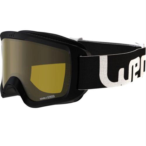 WEDZE Skibrille Snowboardbrille G 100 S1 Schlechtwetter Erwachsene/Kinder schwarz